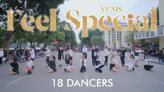"[KPOP IN PUBLIC] TWICE ""Feel Special"" dance cover by V.Unis from Vietnam (18 dancers)"