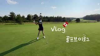 vlog -골린이라운딩(연습스윙), golf begin…