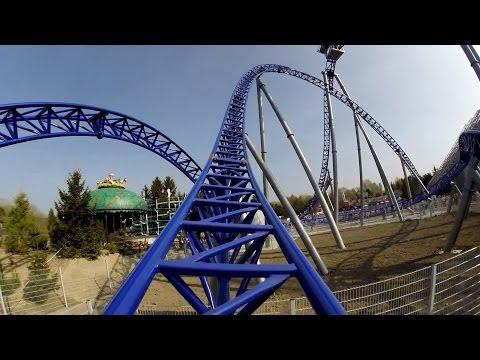 Alpina Blitz Roller Coaster POV Mack Rides Mega Lite Nigloland France