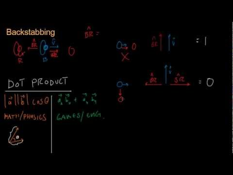 Math for Game Developers - Backstabbing (Dot Product)