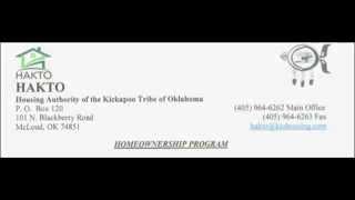 Today Lending: Kickapoo Tribe of Oklahoma Housing Authority
