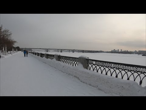 [4K] Novosibirsk - Winter waterfront walking - Russia / Новосибирск