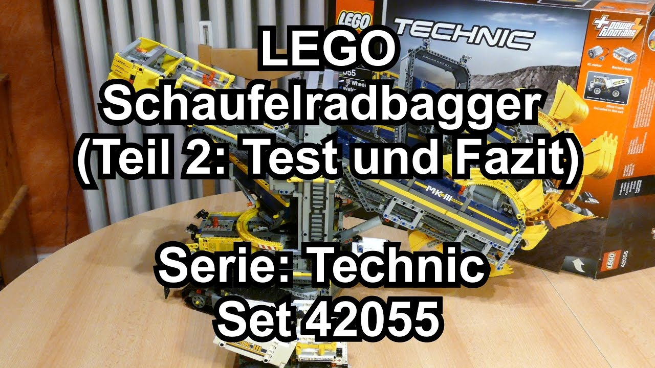lego technic schaufelradbagger set 42055 review deutsch. Black Bedroom Furniture Sets. Home Design Ideas