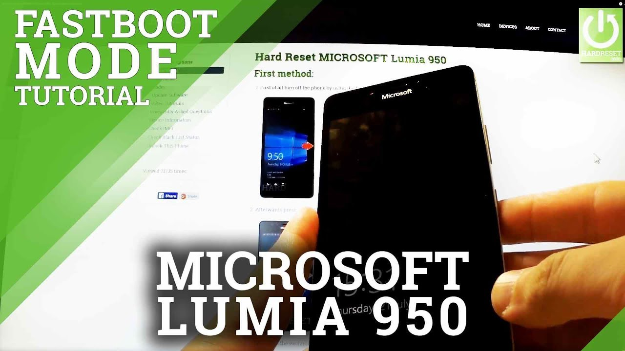 Fastboot Mode MICROSOFT Lumia 950 - Open Fastboot in Lumia