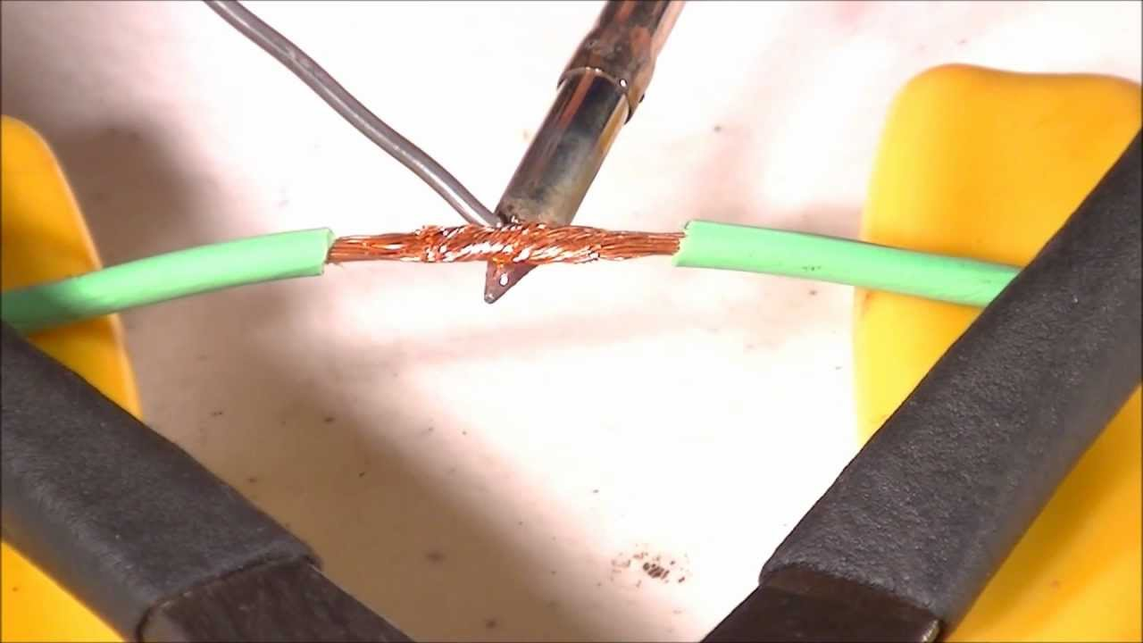 How To Solder - Intro/Joining Stranded Wires - Part 1 - YouTube