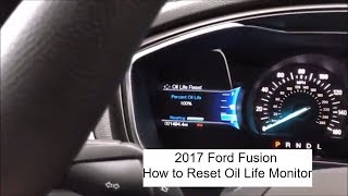 2017 Ford Fusion Oil Monitoring Reset after an oil change - How To