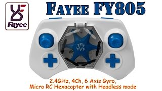 Fayee FY805 2.4GHz, 4Ch, 6 Axis Gyro, micro RC Hexacopter with Headless mode (RTF)