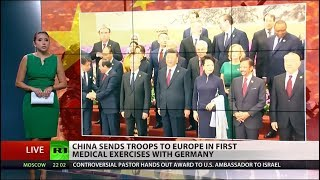 China's Army disembarks in Germany