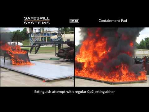 Safespill 3-D Kerosene Fire Test Comparison
