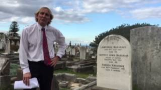 Visiting the Lawrence Hargrave Grave site.