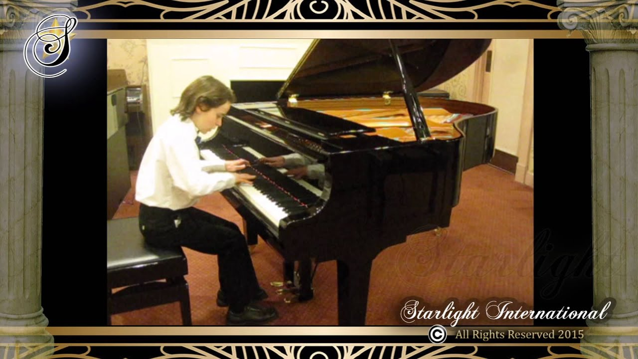 Aidan Beecher performing Two-Part Invention in F Major, by J S  Bach