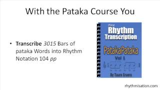 Rhythmisation Pataka Rhythm Vocabulary Triplet 8th Note Rhythmisations Rhythms