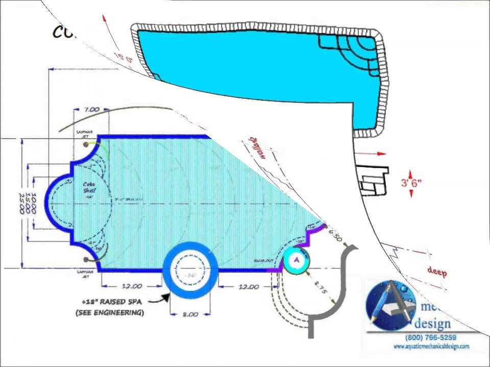 Swimming Pool Design Sheet P-1 Layout Plan (800) 766-5259 - Youtube