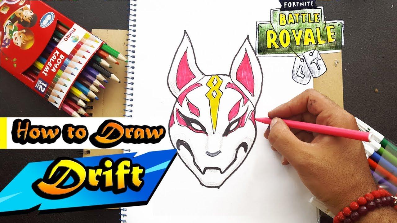 How To Draw Drift S Mask From Fortnite Battle Royal Art Tutorial