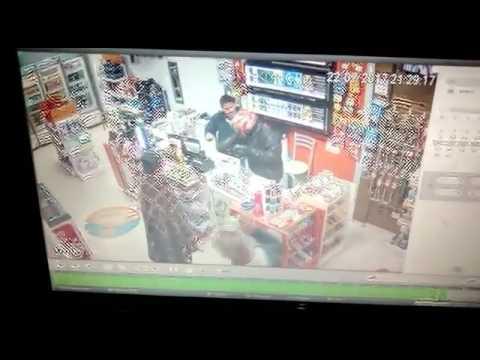 Iretama: Durante assalto a um posto de combustível em Iretama, ladrão dispara arma sem querer