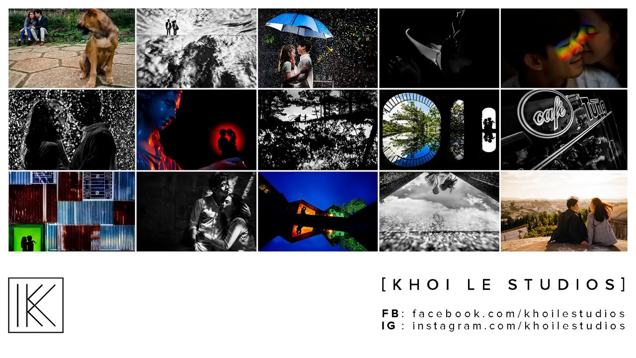 Khoi Le Studios – Chat chit về ảnh cưới – Background sạch, đường dẫn, đóng khung chủ thể, yếu tố ngẫ