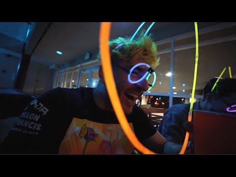 we threw a party with glow sticks