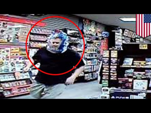 Man breaks into GameStop with plastic bag on his head - TomoNews
