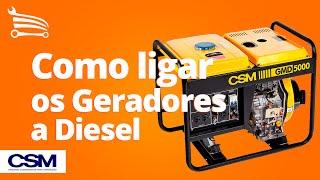 Como ligar os Geradores a Diesel CSM - Loja do Mecânico