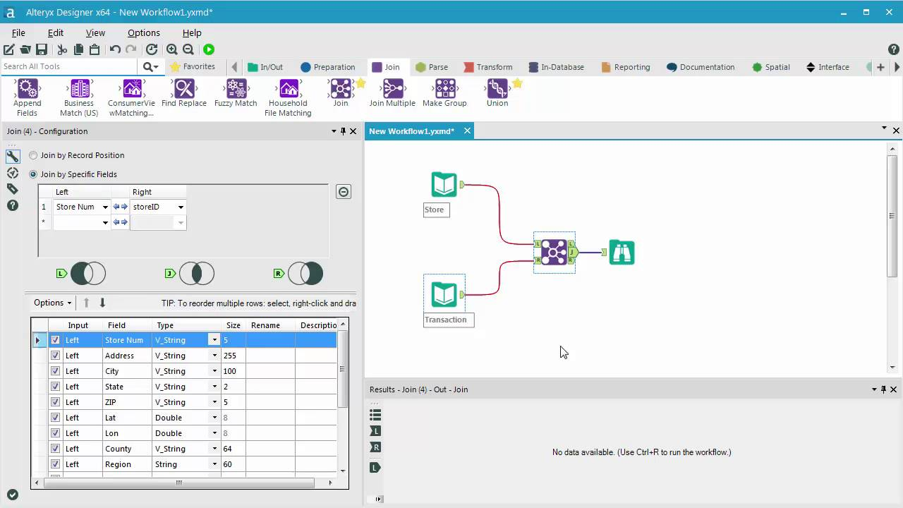 Connecting to a Database with Alteryx Designer