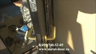 Входные двери со стеклом и ковкой(Установка двери со стеклом и ковкой. Двери со стеклом: http://www.metal-door.ru/categories/284/ Двери со ковкой: http://www.metal-door.ru/ca..., 2013-12-17T12:43:43.000Z)