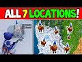 SEARCH CHILLY GNOMES ALL 7 LOCATIONS FORTNITE - EASY! - Season 7 Week 6 Challenges Guide!