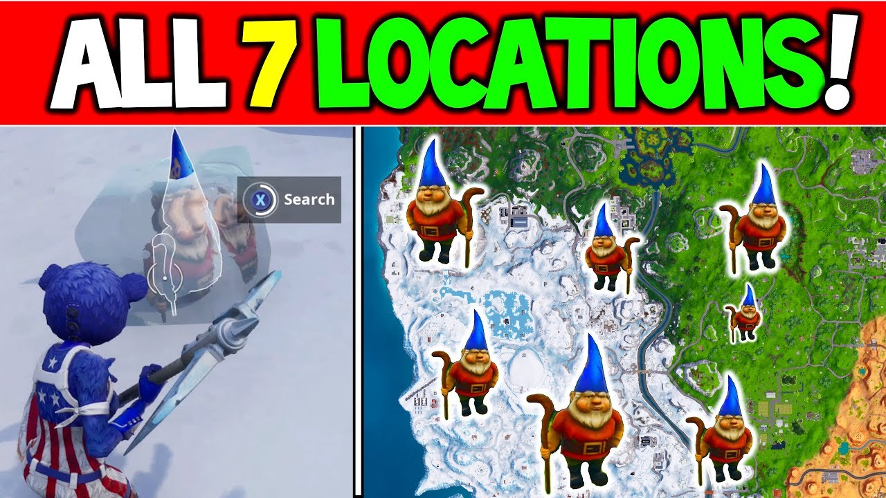 Search Chilly Gnomes All 7 Locations Fortnite Easy Season 7