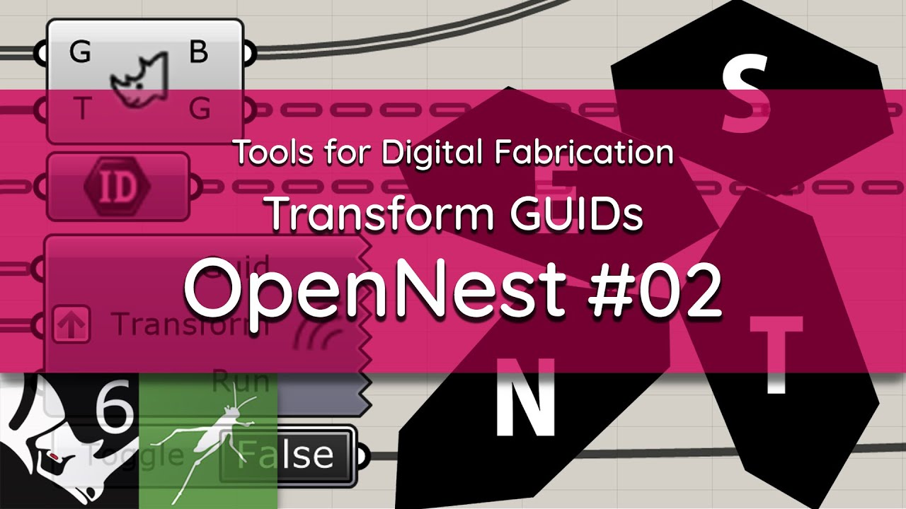 OpenNest: #02 Nesting Rhino Objects with their Attributes | Objects' IDs
