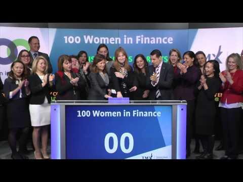 100 Women in Finance opens Toronto Stock Exchange, December 15, 2016