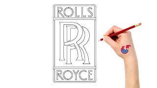 How To Draw For Toddlers Cars Logos Rolls Royce - Learning Drawing - Puzzle Kid