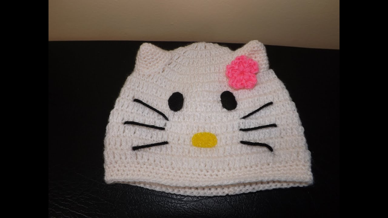 0a5df8c4ad771 Crochet Hello Kitty Baby Hat