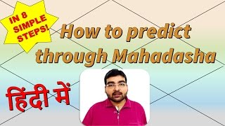 How to predict through Mahadasha in 8 SIMPLE STEPS! | ज्योतिष | हिंदी (Hindi)