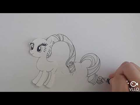 My little pony paper craft / Rarity paper doll