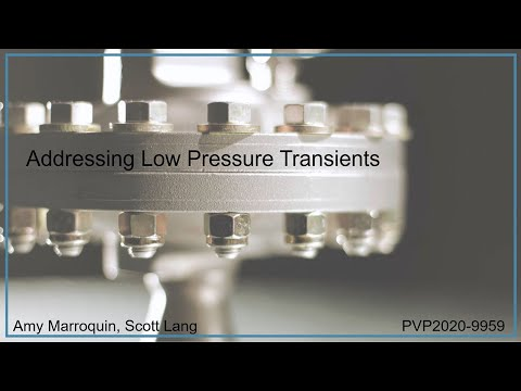 Addressing Low Pressure Transients