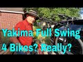 """Yakima Fullswing """"4 bike"""" rack unboxing and review"""