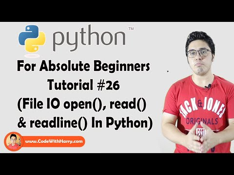 Open(), Read() & Readline() For Reading File   Python Tutorials For Absolute Beginners In Hindi #26