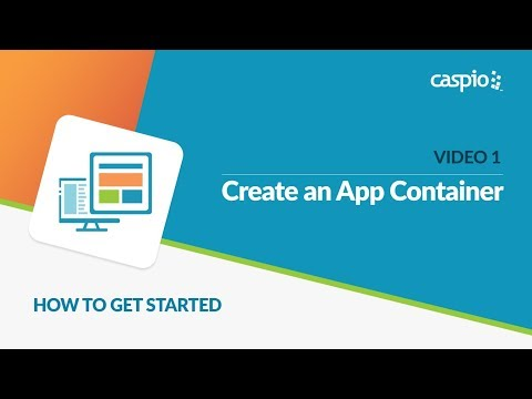 Learn How to Get Started with Caspio (Part 1 of 5) - Create an Application Container