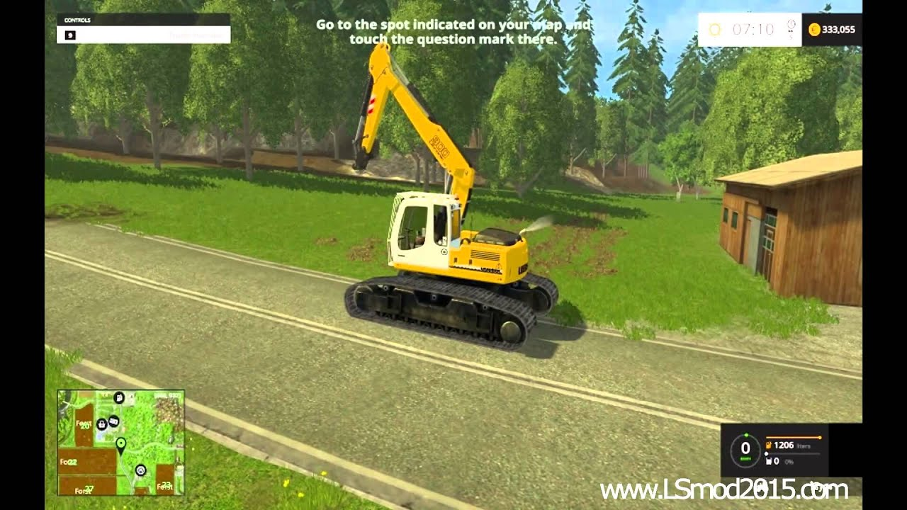farming simulator 2015 testing liebherr excavator youtube. Black Bedroom Furniture Sets. Home Design Ideas
