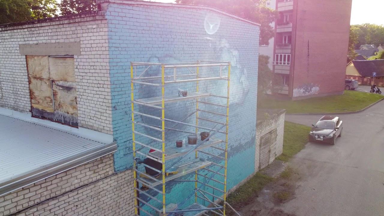 Pavel Hafizov / Kuldiga Street Art Fest 2020/ The Divine AIR Machina