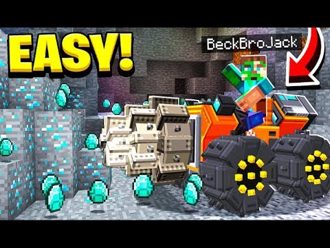 USING A MINING MACHINE TO GET DIAMONDS! (EASY)
