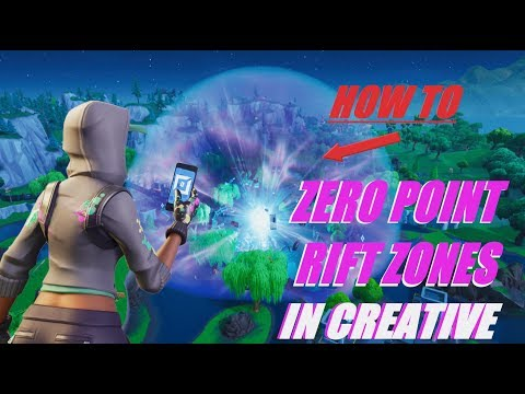 HOW TO Get The ZERO POINT RIFT ZONE In Fortnite Creative!