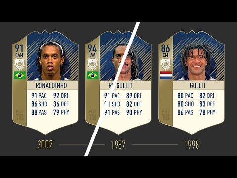ALL FIFA 18 REVEALED ICONS & STATS!!! | FT. RONALDINHO, PELÉ, MARADONA...etc