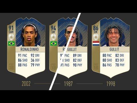 ALL FIFA 18 REVEALED ICONS & STATS!!!  FT RONALDINHO, PELÉ, MARADONAetc