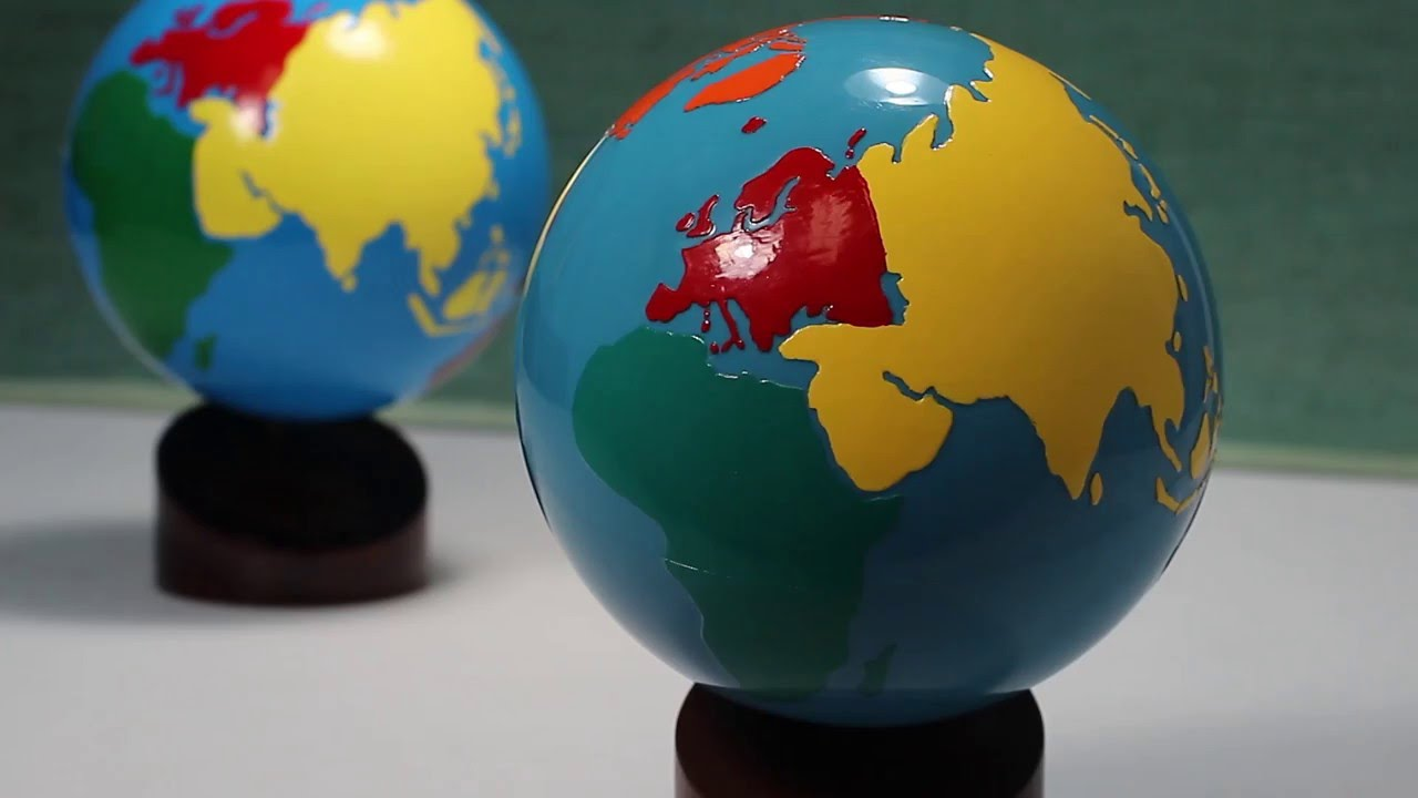 Alisons montessori g10 continents globe pg16 globe of the alisons montessori g10 continents globe pg16 globe of the world premium quality youtube gumiabroncs Images