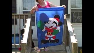 Disney Mickey Mouse Garden Outdoor Flag New with Tag 28 by 44 inches