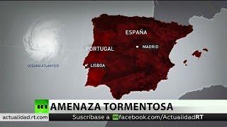 El huracán Leslie amenaza a Portugal y España con vientos de hasta 120 kilómetros por hora