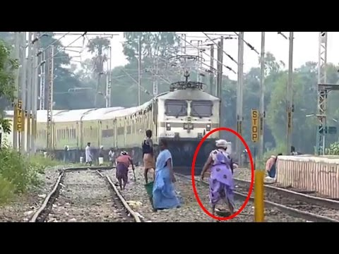 Most Lucky Indian People Escape Train Hit Compilation | 2017