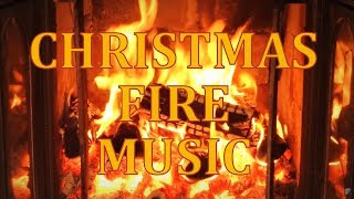 Repeat youtube video Perfect Christmas Log Fireplace Full HD 1080p perfect crackling sound + Christmas music