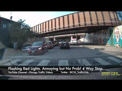 Confusion over Flashing Red Light - YouTube