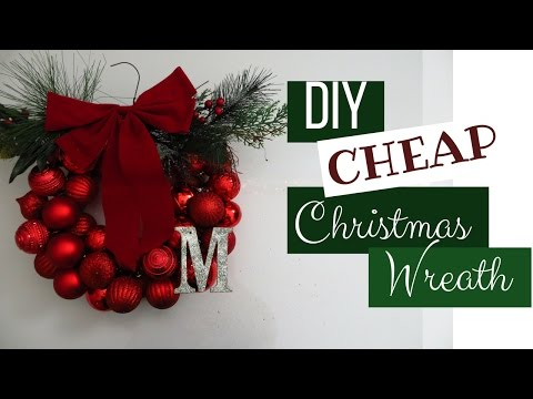 DIY Cheap Christmas Wreath
